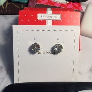 Stella And Dot Crystal Nancy Stud in Silver